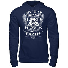My Help Comes From Lord - Hoodie Navy / S Shirts