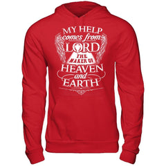 My Help Comes From Lord - Hoodie Red / S Shirts