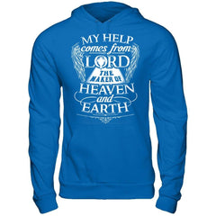 My Help Comes From Lord - Hoodie Royal / S Shirts