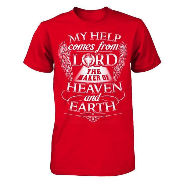 My Help Comes From Lord - Men Red / XS Shirts