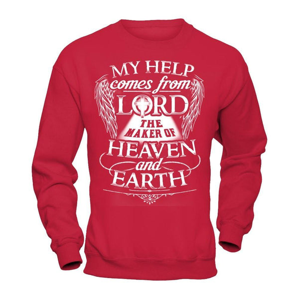 My Help Comes From Lord - Sweatshirt Red / S Shirts