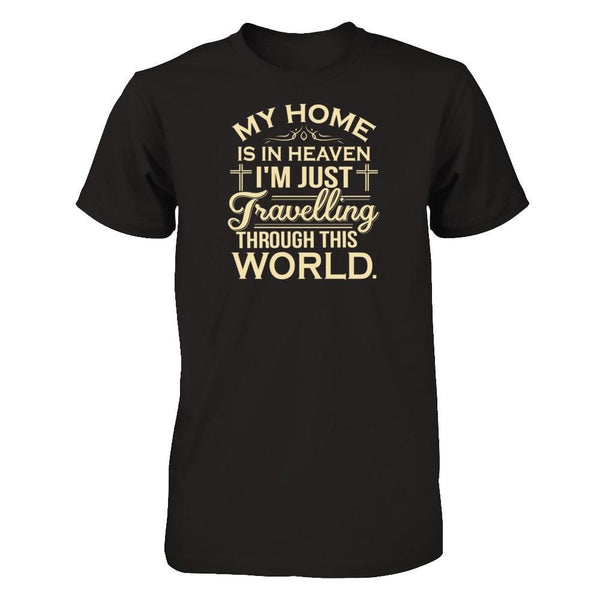 My Home is in Heaven Next Level - Unisex Fitted Tee / Black / XS Shirts