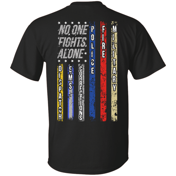 No One Fights Alone G200 Gildan Ultra Cotton T-Shirt / Black / Small Shirts