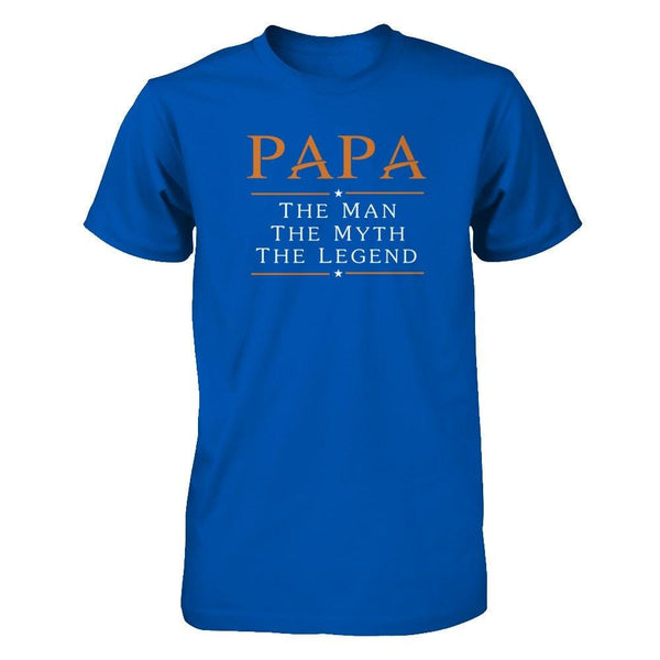 Papa - The Man The Myth The Legend Next Level - Unisex Fitted Tee / Royal / XS Shirts