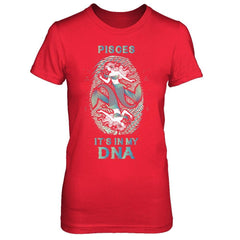 Pisces DNA - Women Style Bella Canvas - Short Sleeve Tee / Red / S Shirts