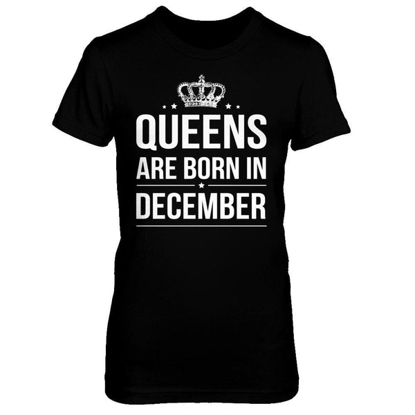 Queens are born in december t shirt delightee for Custom t shirts in queens ny