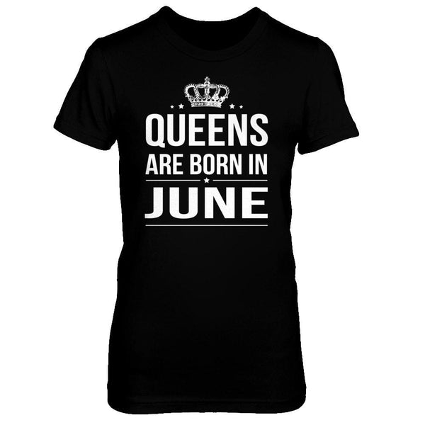 Queens are born in June Next Level - The Boyfriend Tee / Black / XS Shirts