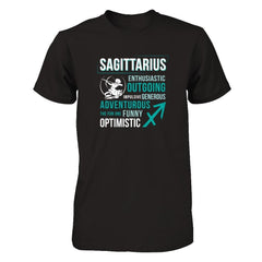 Sagittarius Next Level - Unisex Fitted Tee / Black / XS Shirts