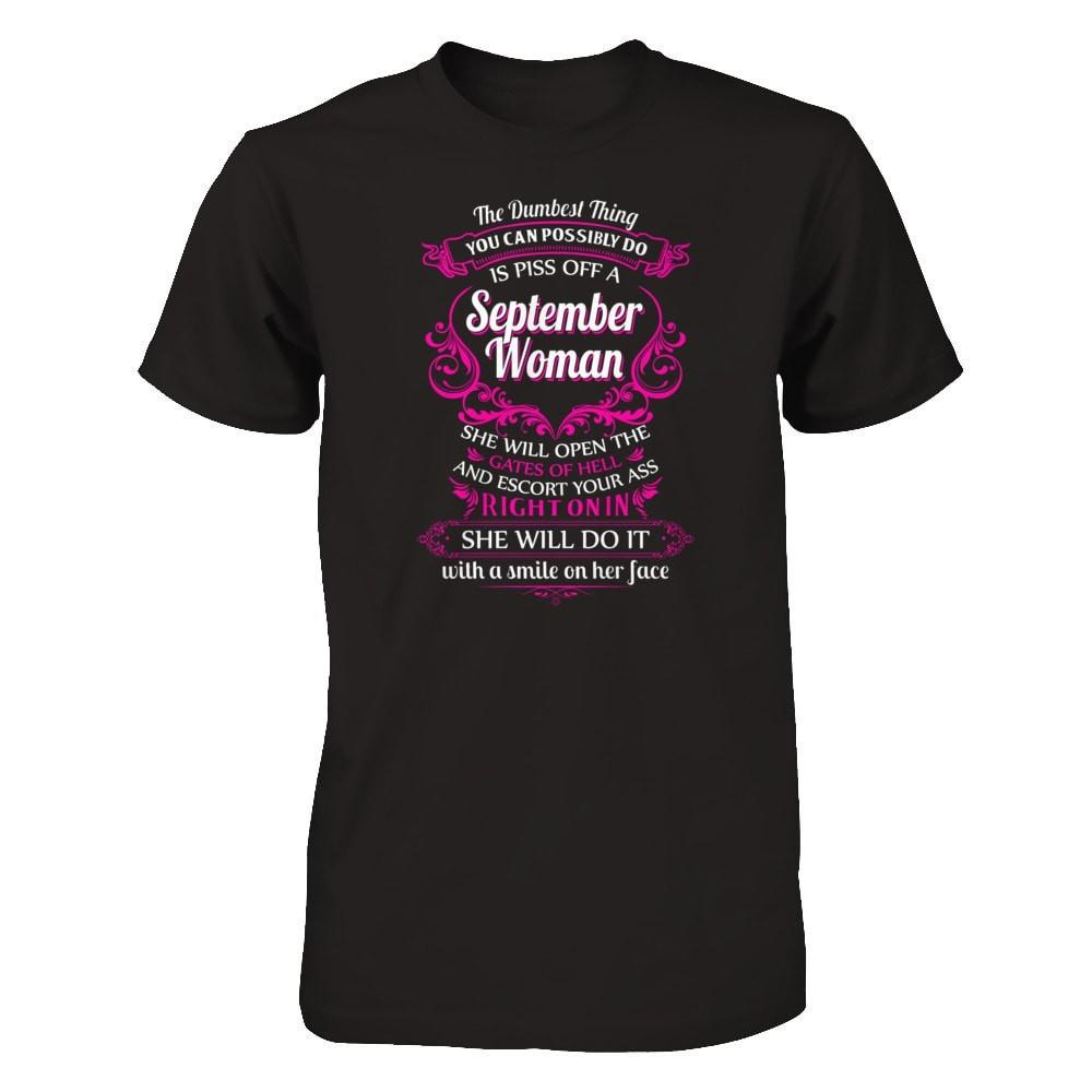 September Woman Next Level - Unisex Fitted Tee / Black / XS Shirts