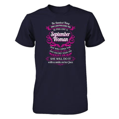 September Woman Next Level - Unisex Fitted Tee / Midnight Navy / XS Shirts