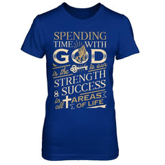 Spending time with God Royal Blue / XS Shirts
