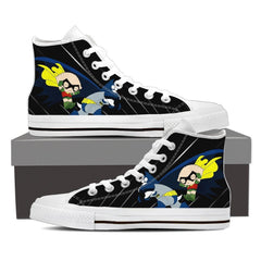 Stewie and Brian Shoes Men's High Top - White / US8 (EU40) / White Shoes