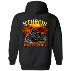 Sturgis 77th - On fire G185 Gildan Pullover Hoodie 8 oz. / Black / Small Shirts