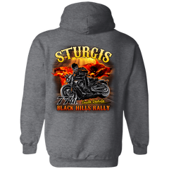 Sturgis 77th - On fire G185 Gildan Pullover Hoodie 8 oz. / Dark Heather / Small Shirts