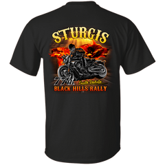 Sturgis 77th - On fire G200 Gildan Ultra Cotton T-Shirt / Black / Small Shirts