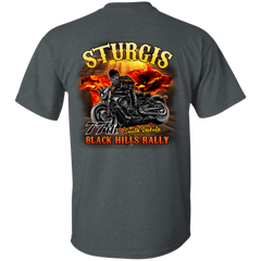 Sturgis 77th - On fire G200 Gildan Ultra Cotton T-Shirt / Dark Heather / Small Shirts