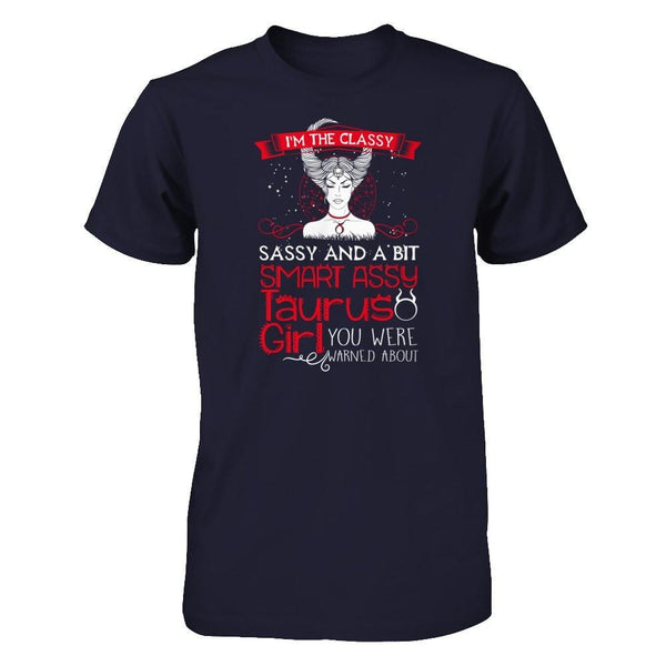 Taurus Girl Smart Assy Next Level - Unisex Fitted Tee / Midnight Navy / XS Shirts