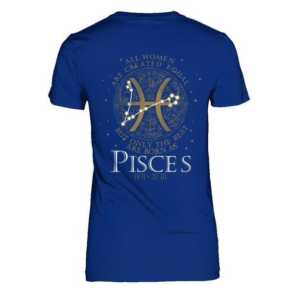 The Best Women Are Born as Pisces Next Level - The Boyfriend Tee / Royal Blue / XS Shirts
