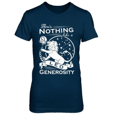 There's Nothing Like a Leo Generosity Next Level - The Boyfriend Tee / Midnight Navy / XS Shirts