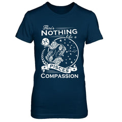 There's Nothing Like a Pisces Compassion Next Level - The Boyfriend Tee / Midnight Navy / XS Shirts