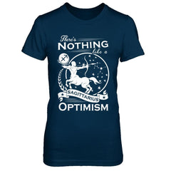 There's Nothing Like a Sagittarius Optimism Next Level - The Boyfriend Tee / Midnight Navy / XS Shirts