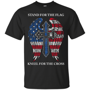 Thin Blue Line - Stand For The Flag G200 Gildan Ultra Cotton T-Shirt / Black / Small Shirts