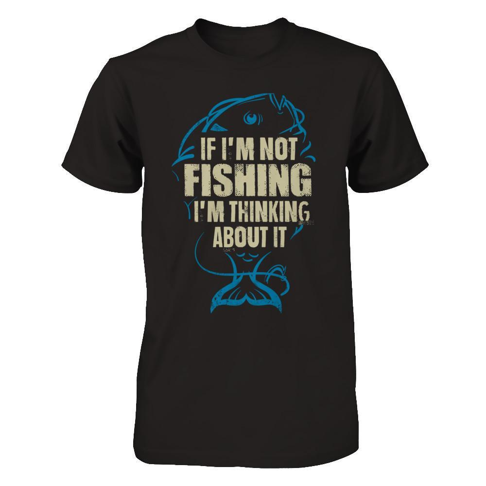 Thinking About Fishing - Men Black / XS Shirts