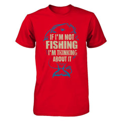 Thinking About Fishing - Men Red / XS Shirts