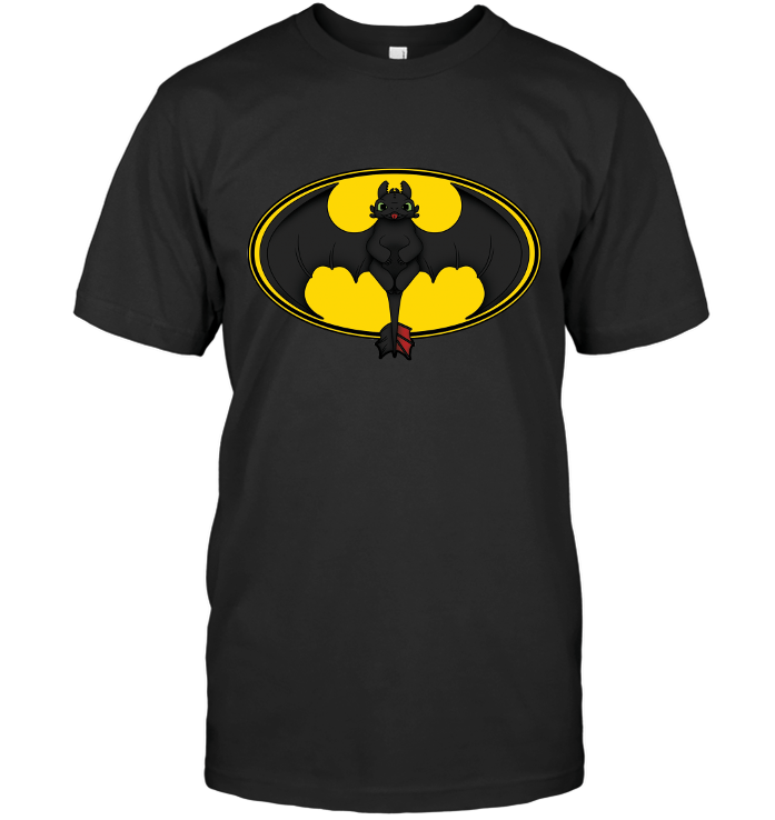 Toothless Batman Logo Next Level Unisex Fitted Tee / Black / S Shirts