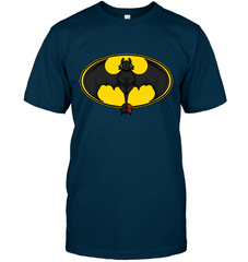 Toothless Batman Logo Next Level Unisex Fitted Tee / Midnight Navy / S Shirts