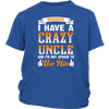 Warning - I Have a Crazy Uncle District Youth Shirt / Royal Blue / XS Shirts