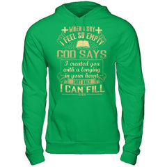When I Say I Feel So Empty - Hoodie Irish Green / S Shirts