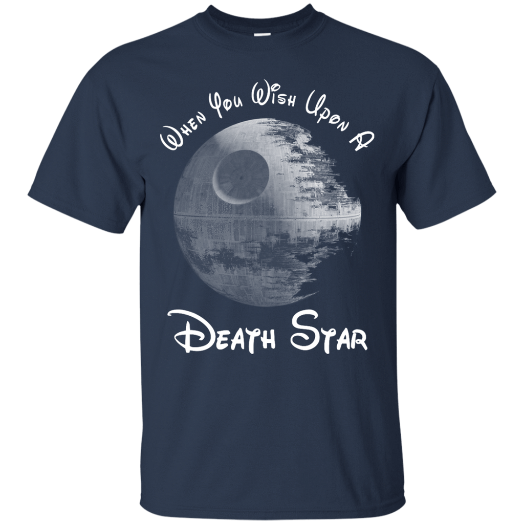 When you wish upon a death star t shirt delightee for Custom cotton t shirts