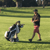 electric golf caddy cart walking motorized golfer