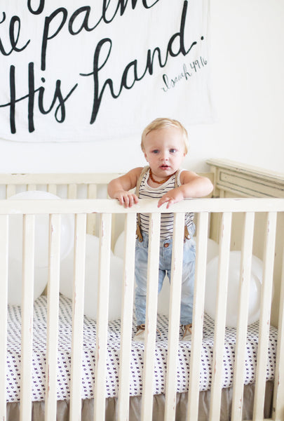 Organic Cotton Muslin Swaddle | God has you in the palm of His hand | ISAIAH 49:16