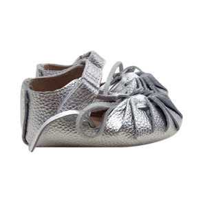 AMELIA [silver] Leather Sandal Moccs