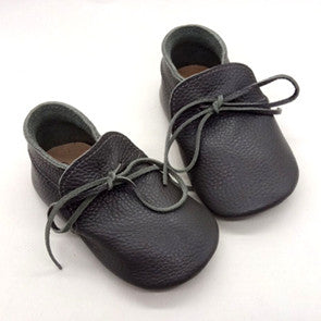 DUKE [charcoal] Leather Moccs