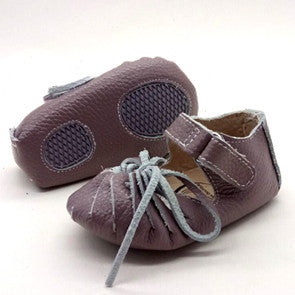 AMELIA [violet] Leather Sandal Moccs