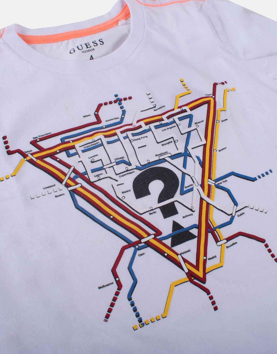 Guess Kids Boys Map T-Shirt