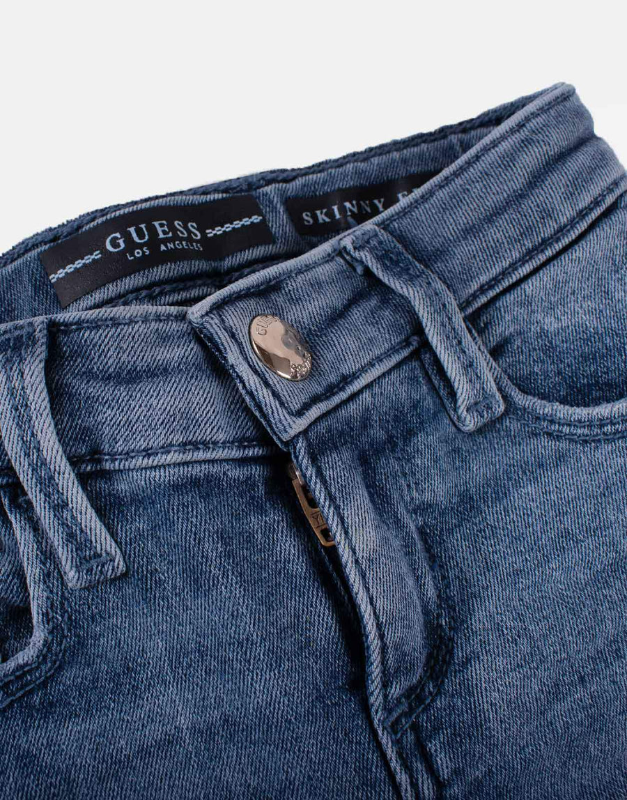 Guess Kids Mid Wash Skinny Jeans