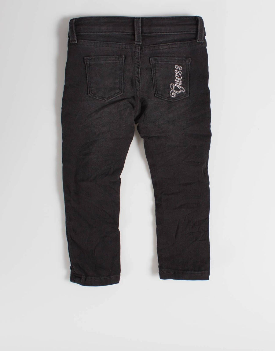 Guess Kids Black Wash Skinny Jeans