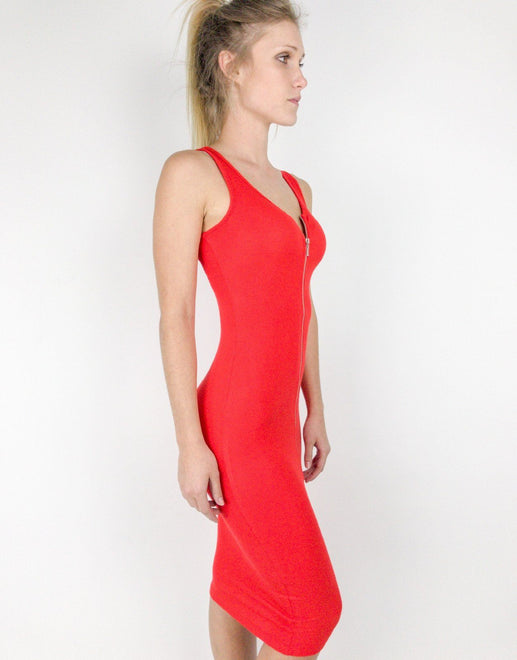 Guess Guess Joany Red Zip Dress - Subwear