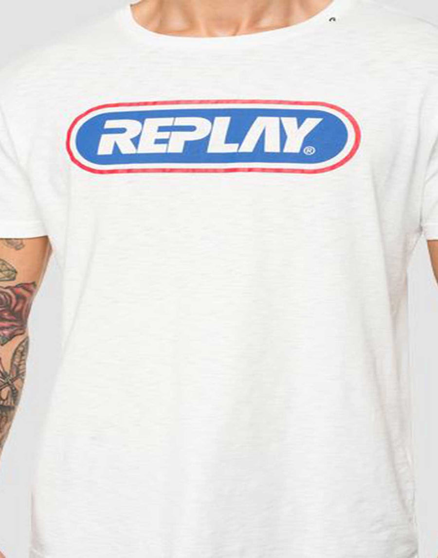 Replay Round Logo T-Shirt