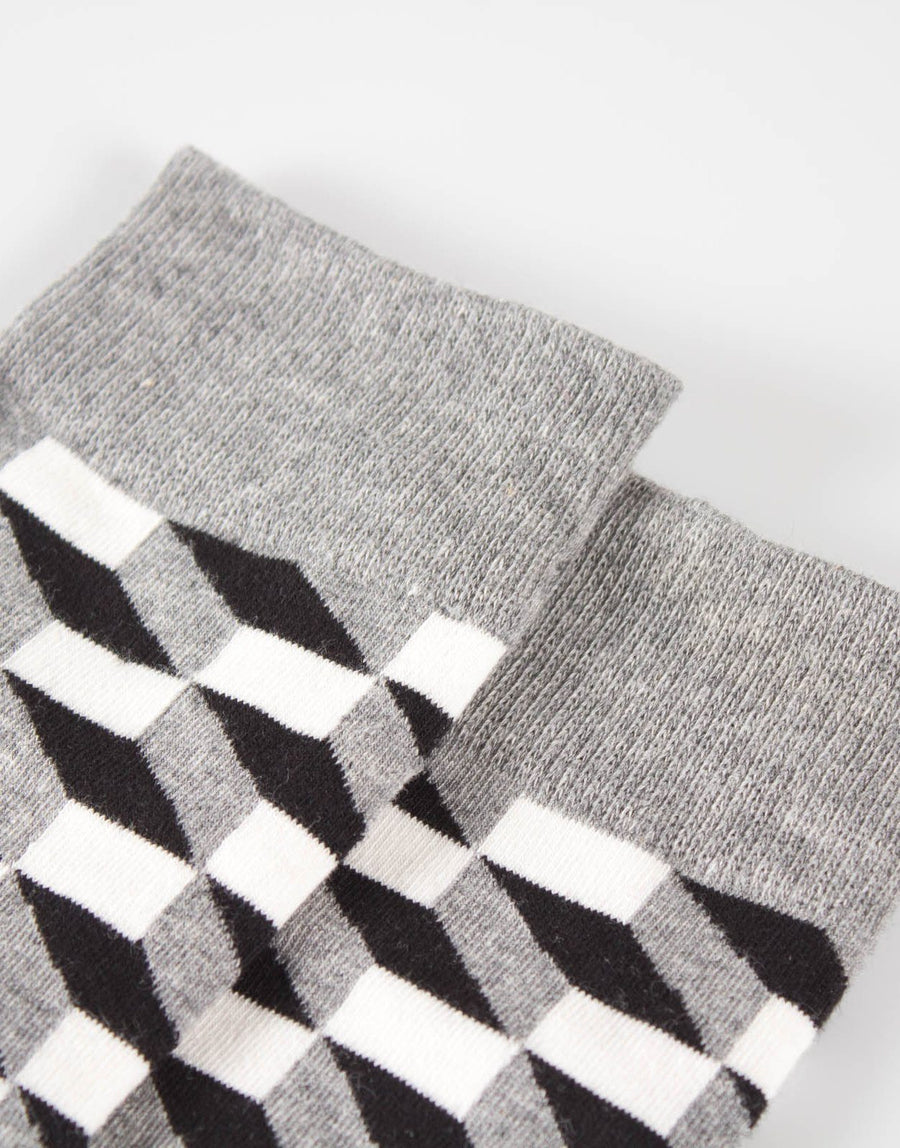 FF Black Abstract Socks - Subwear