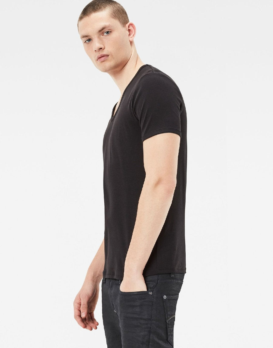 G-Star RAW Base V-Neck 2-Pack Black/White T-Shirts - Subwear