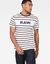 G-Star RAW Mow Stripe White T-Shirt - Subwear