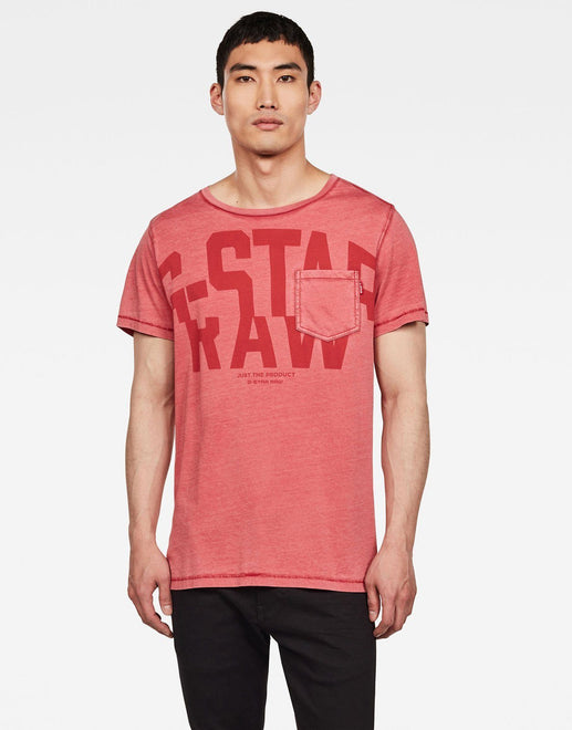 G-Star RAW Graphic 15 Red T-Shirt - Subwear