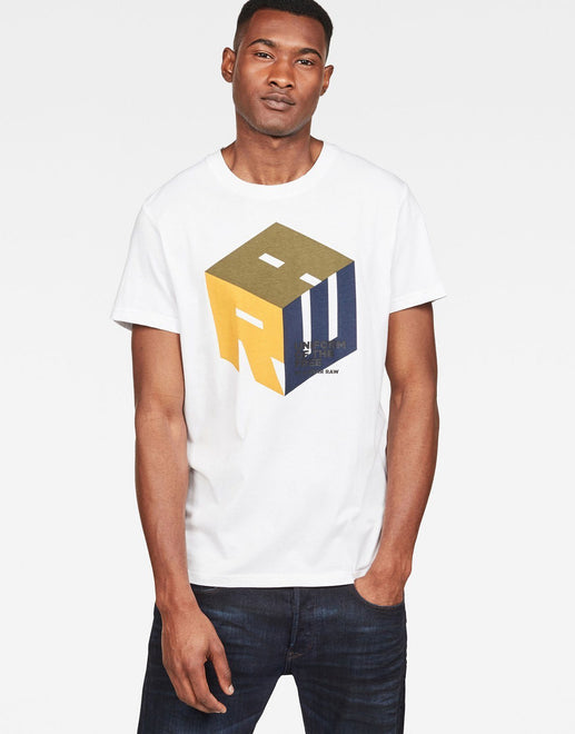 G-Star RAW Graphic 6 White T Shirt - Subwear