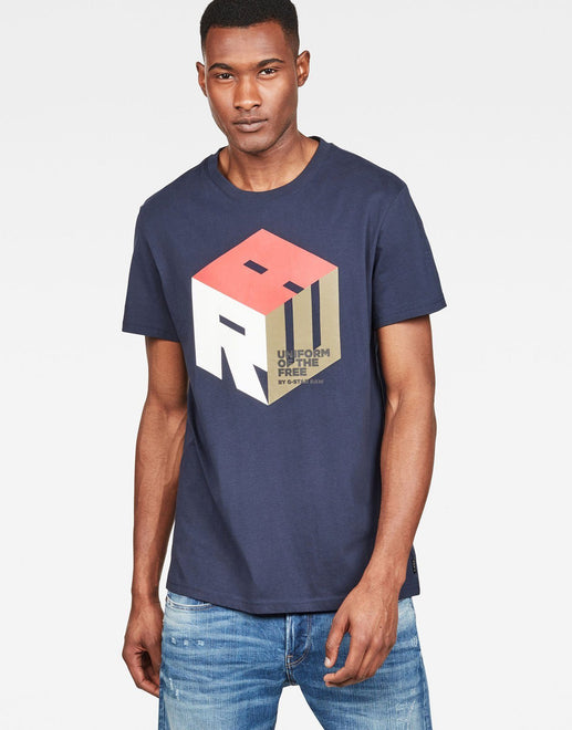 G-Star RAW Graphic 6 Blue T-Shirt - Subwear