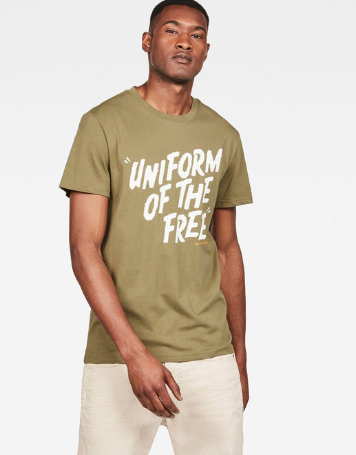 G-Star RAW Graphic 9 Green T Shirt - Subwear